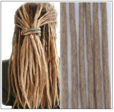 Dreadlocks Hairstyles 100% Handmade Synthetic Dreads 24# img-min