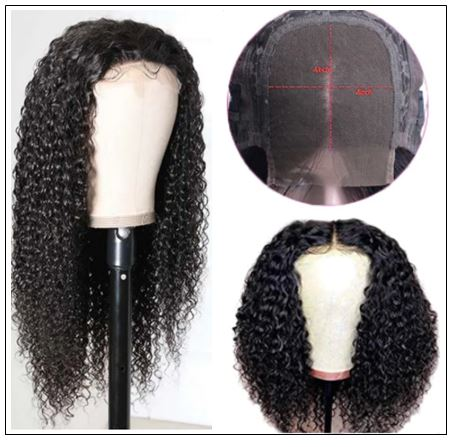 HD Transparent Lace Wig Jerry Curly 5x5 Closure Wigs img 2-min