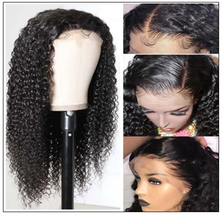 HD Transparent Lace Wig Jerry Curly 5x5 Closure Wigs img 4-min