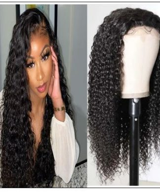 HD Transparent Lace Wig Jerry Curly 5x5 Closure Wigs img-min