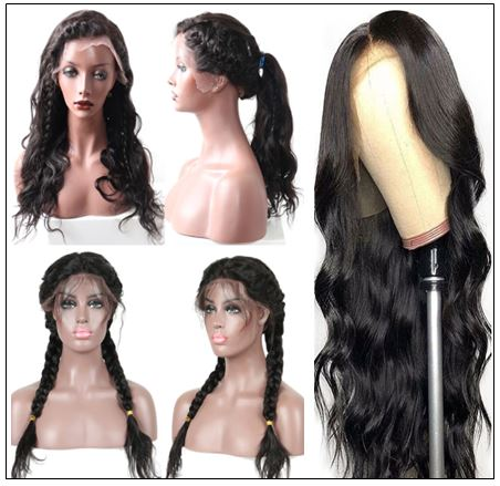 Human Hair Body Wave 360 Lace Frontal Wig img 3-min