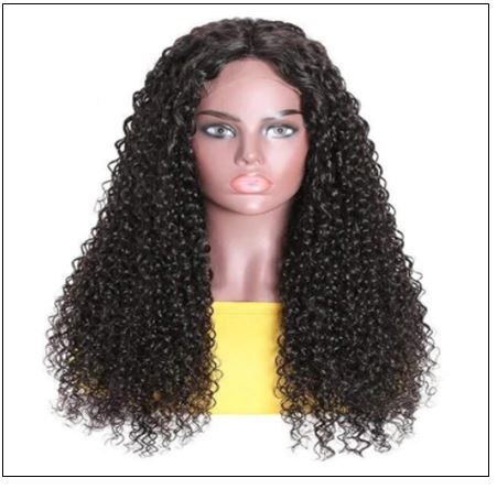 Jerry Curly Wigs Lace Part Wig Middle Part 150% Density Natural Hair Line Glueless Human Hair Wigs 3-min