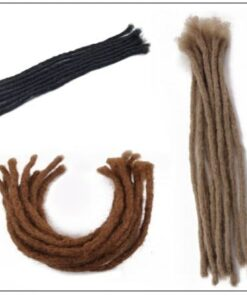Medium Dreadlocks Extensions For Men and Women Synthetic Hair 5 Colors 2-min