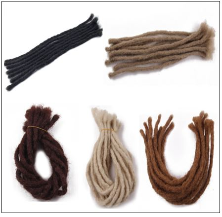 Medium Dreadlocks Extensions For Men and Women Synthetic Hair 5 Colors 4-min