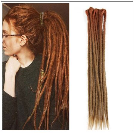 Ombre Brown 2-13 Synthetic Dreadlocks Extensions Reggae Hair img-min