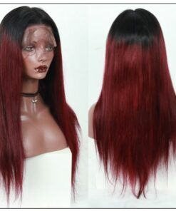 Ombre Human Hair Wig 1B99J Burgundy Wig 4x4 Lace Closure Wig Straight Human Hair Lace Wigs img 4-minOmbre Human Hair Wig 1B99J Burgundy Wig 4x4 Lace Closure Wig Straight Human Hair Lace Wigs img 4-min