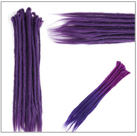 Ombre Purple 2-21 Crochet Braids Dreadlock Extensions With Synthetic Hair 2-min