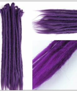 Ombre Purple 2-21 Crochet Braids Dreadlock Extensions With Synthetic Hair 4-min