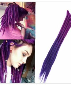 Ombre Purple 2-21 Crochet Braids Dreadlock Extensions With Synthetic Hair img-min