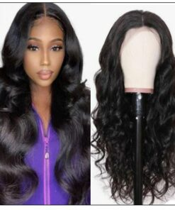 Pre Plucked Virgin Hair Body Wave HD Lace Closure Wigs Amazing Lace Melted Match All Skin Color img-min