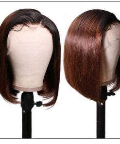Short Straight Bob Wigs Virgin Human Hair Lace Front Wigs 13x4 T1B4 Ombre Color Wig 150% Density Pre Plucked with Baby Hair 2-min