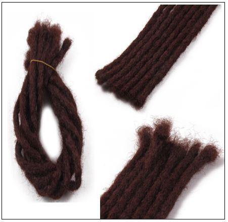 Soft Dread Crochet Hair Dreadlocks Extensions Synthetic Hair Color 33# img 2-min