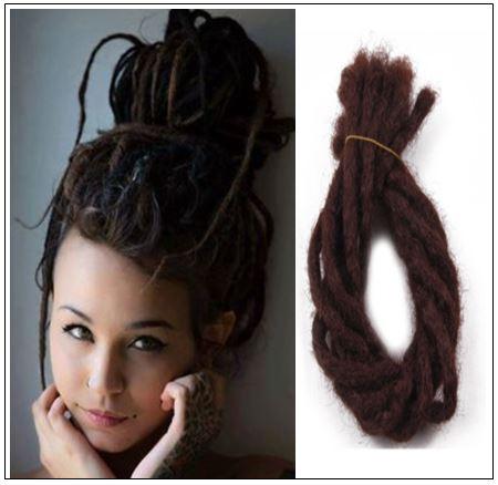 Soft Dread Crochet Hair Dreadlocks Extensions Synthetic Hair Color 33# img-min