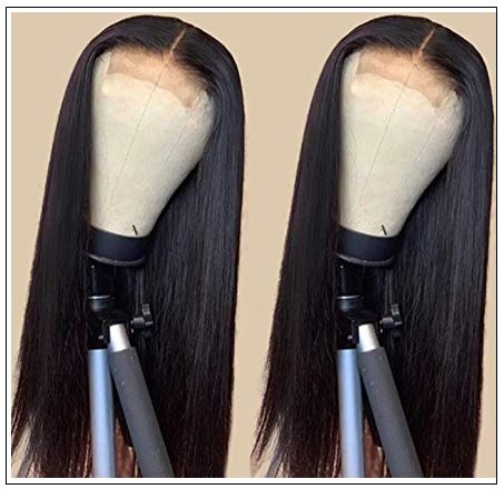 Straight Human Hair 4x4 Lace Closure Wig Natural Black Human Hair Lace Wigs for Black Women img 4-min