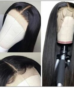Straight Human Hair Wigs Middle Part Lace Wigs Pre Plucked Natural Hairline Long Wig img 2-min