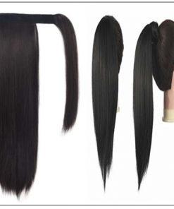 12 inch human hair ponytail 3-min
