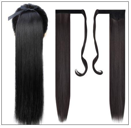 26 inch human hair ponytail 2-min
