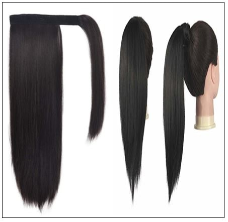 26 inch human hair ponytail 3-min