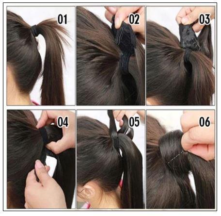 26 inch human hair ponytail 4-min