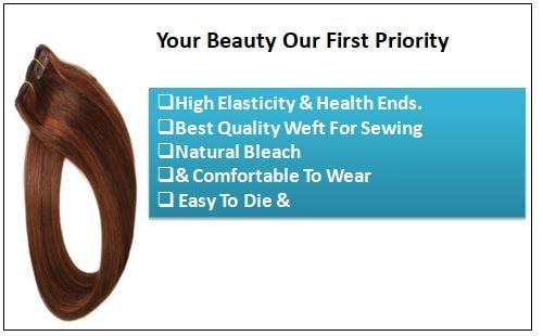 #4 30 Medium Brown Auburn Straight 100% Remy Hair Clip In Human Hair Extensions-min