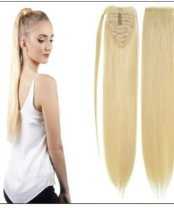 613 blonde ponytail extension img-min