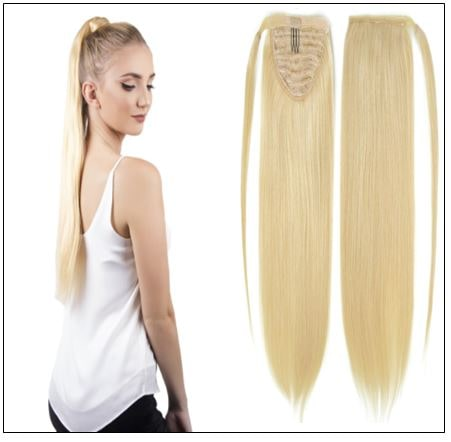 613 blonde ponytail extension img-min