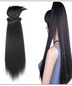 Black girl ponytail with bangs 2-min