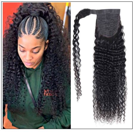 Braids with Curly Ponytail Black Hair img-min