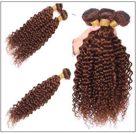 Brazilian Dark Brown Curly Hair Weaves 2-min