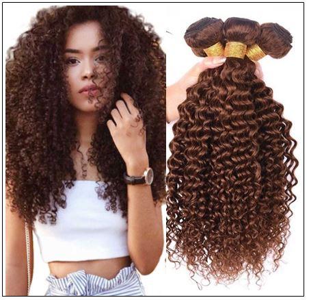 Brazilian Dark Brown Curly Hair Weaves img-min