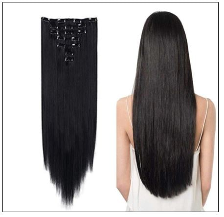 Foreign Holics Straight Clip in Hair Extensions 3-min