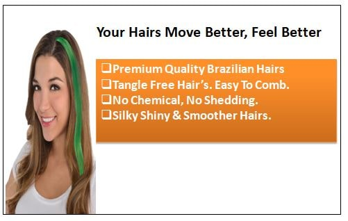 Green Clip In Hair Extensions 1-min