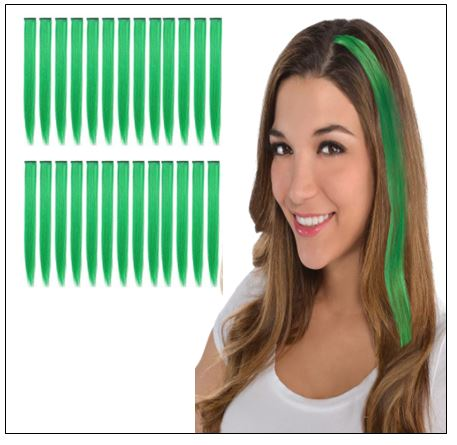 Green Clip In Hair Extensions 2-min