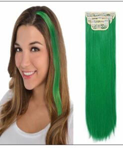 Green Clip In Hair Extensions img-min