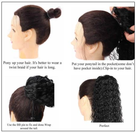 Human Hair Curly Ponytail 4 (1)-min