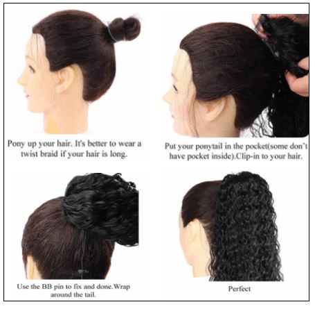 Kinky Ponytail extension 4