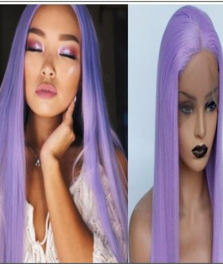 Long Purple Lace Front Wigs Sew In With Baby Hair img-min