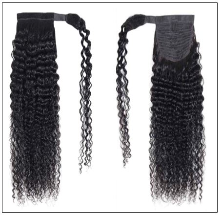 Long curly ponytail weave with braids 2-min