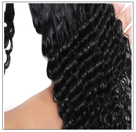Long curly ponytail weave with braids 3-min