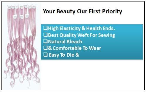 Metallic Silver Pink Clip Hair Extensions-min