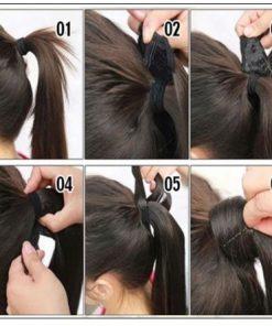 Natural Ponytails for black hair 4-min