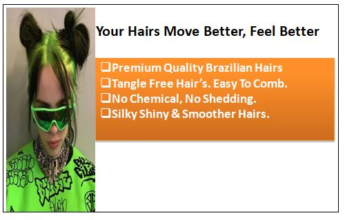 Neon Green Clip-In Hair Extension 1-min