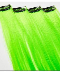 Neon Green Clip-In Hair Extension 2-min