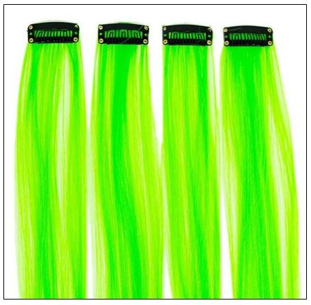 Neon Green Clip-In Hair Extension 3-min
