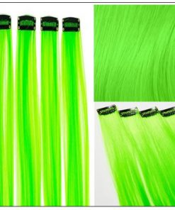 Neon Green Clip-In Hair Extension 4-min