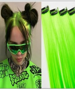 Neon Green Clip-In Hair Extension img-min