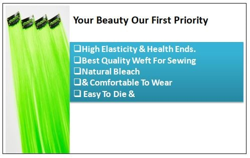 Neon Green Clip-In Hair Extension-min