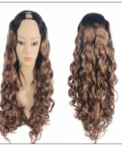 Ombre U Part Wig Human Hair Loose Body Wave T1B27 2-min