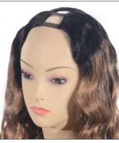 Ombre U Part Wig Human Hair Loose Body Wave T1B27 3.-min