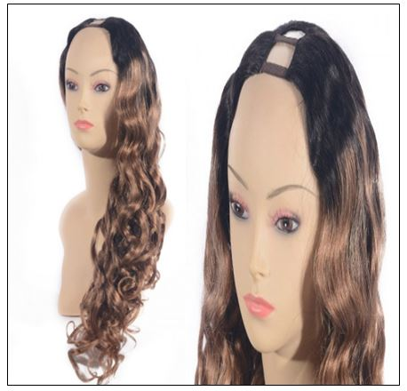 Ombre U Part Wig Human Hair Loose Body Wave T1B27 4-min